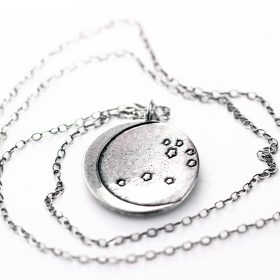 Pleiades and Crescent Moon necklace