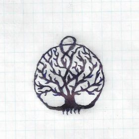 Hand drawn deep roots tree of life
