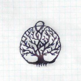 Hand drawn deep roots tree of life