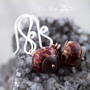 Handmade lampwork bead earrings-Bubby & McGurk beads