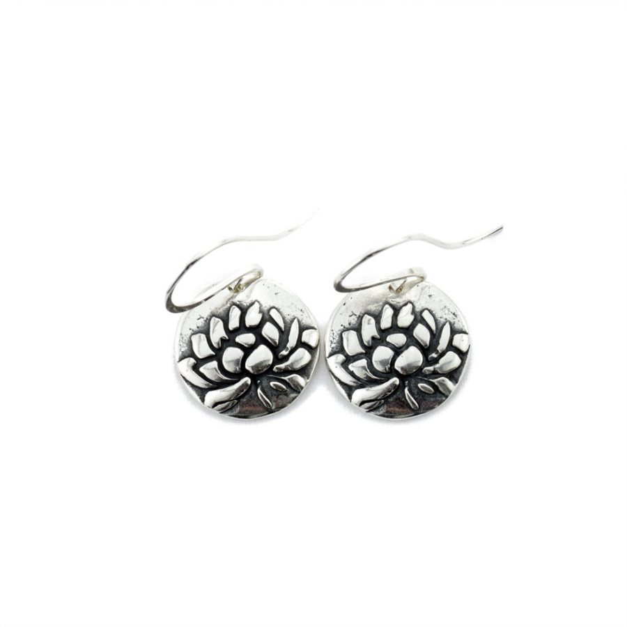 Lotus Awakening Earrings-Terra Rustica Jewelry