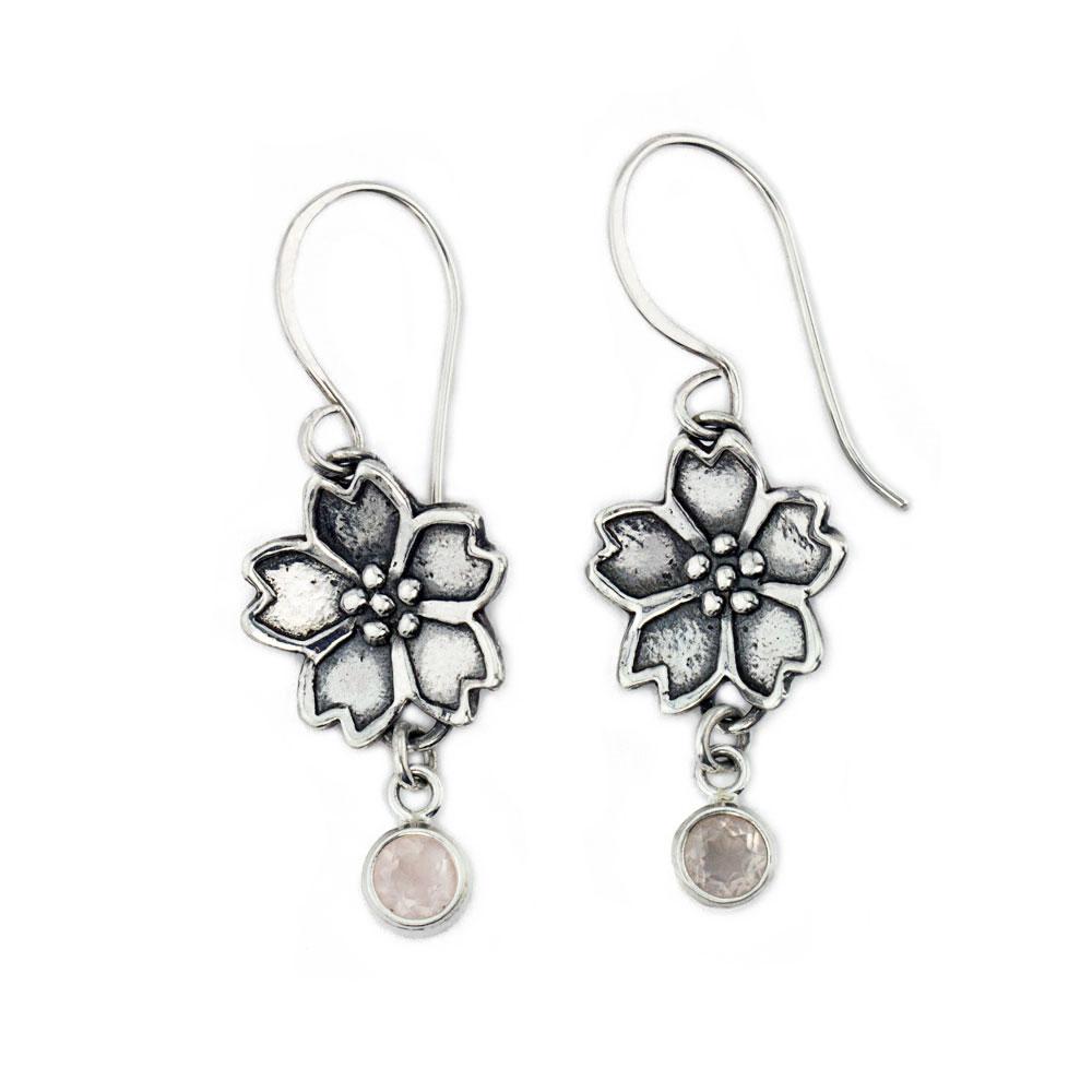 Sakura Cherry Blossom Earrings-Terra Rustica Jewelry