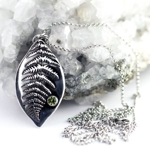 Fern Leaf Necklace-Terra Rustica Jewelry