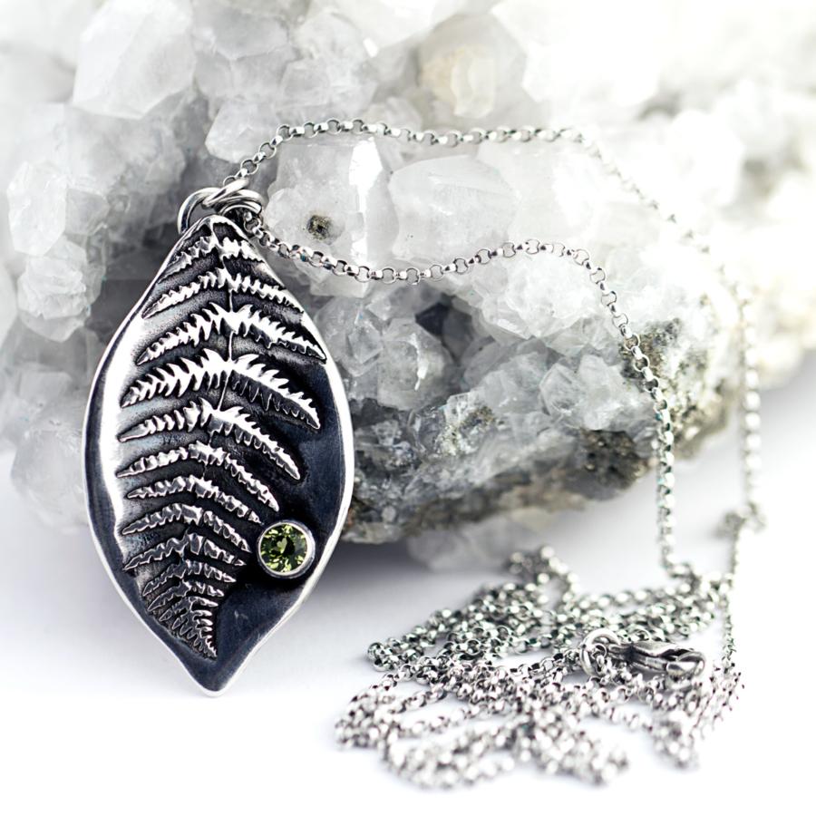 Fern Leaf Necklace-Terra Rustica Jewelry