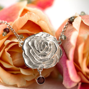 My Sweet Rose Statement Necklace-Terra Rustica Jewelry