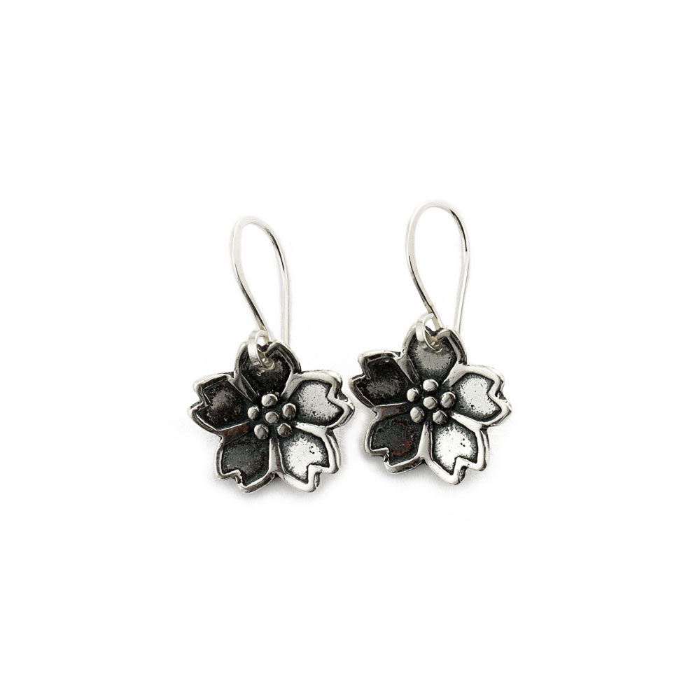 Dainty Sakura Cherry Blossom Earrings-Terra Rustica Jewelry