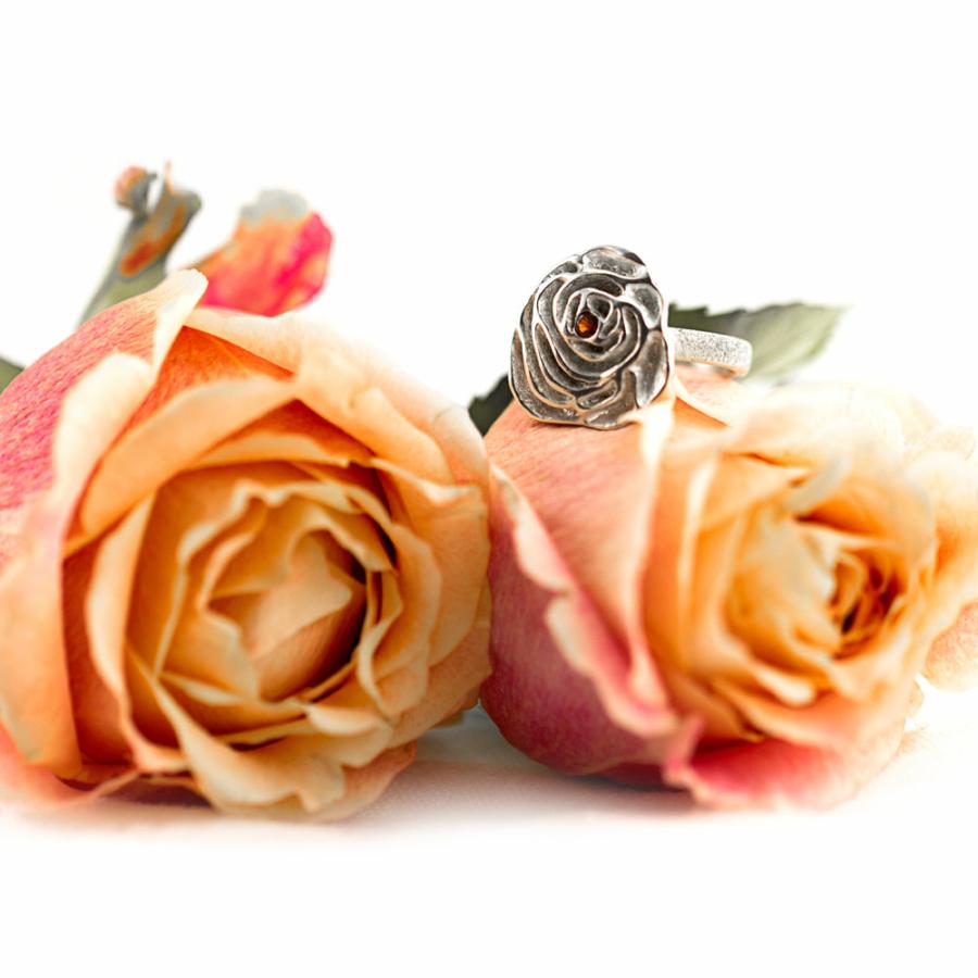 My Sweet Rose Flower Ring-Terra Rustica Jewelry