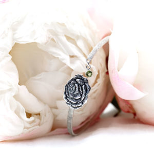 Peony Flower Bangle-Terra Rustica Jewelry