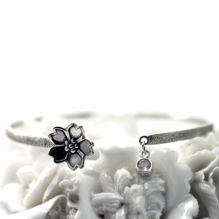 Sakura Cherry Blossom Bangle-Terra Rustica Jewelry