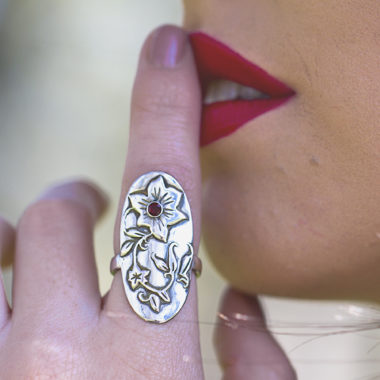 Hibiscus Flower Ring-Terra Rustica Jewelry