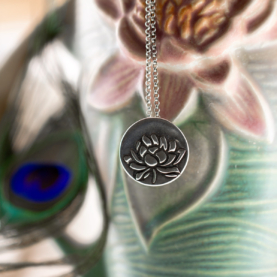 Lotus Awakening Necklace-Terra Rustica Jewelry