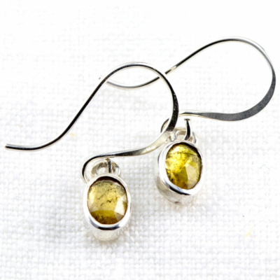 Rose Cut Tourmaline Earrings-Terra Rustica Jewelry