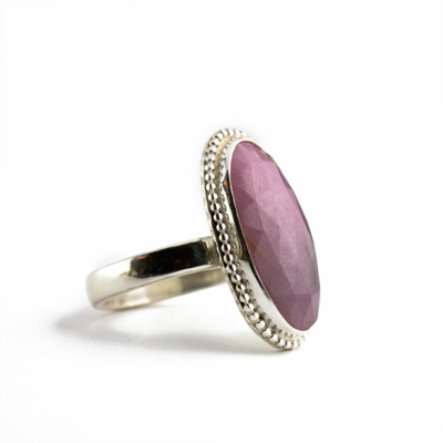 Cotton Candy Rose Cut Sapphire Ring-Terra Rustica Jewelry