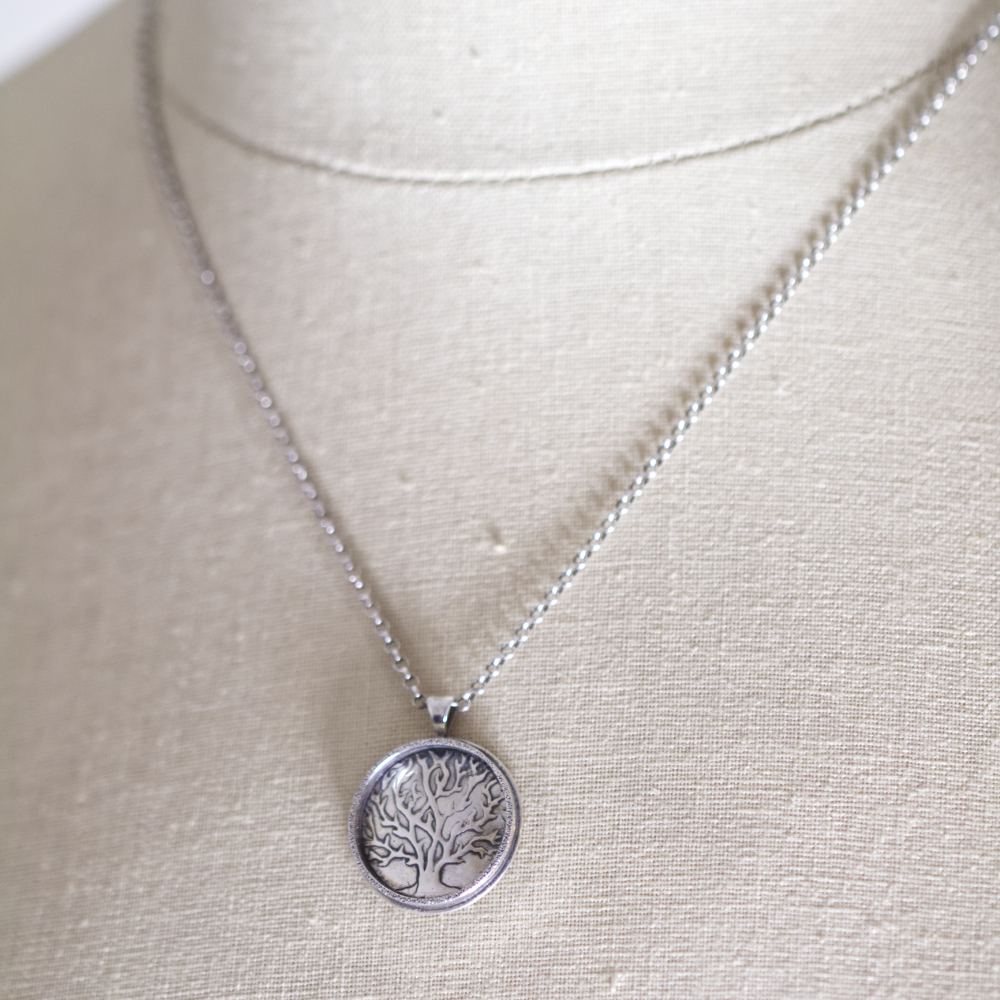 Deep Roots with Border Necklace-Terra Rustica Jewelry
