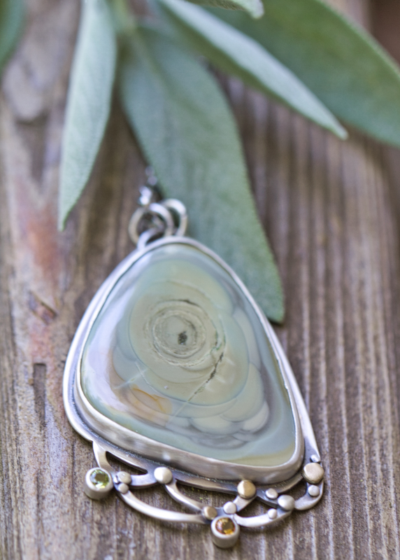Tidal Pool Imperial Jasper Necklace-Terra Rustica Jewelry