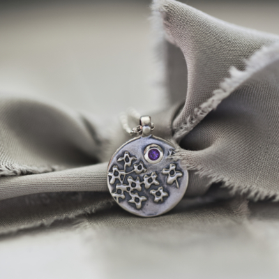 Lilac Necklace with Amethyst Gemstone