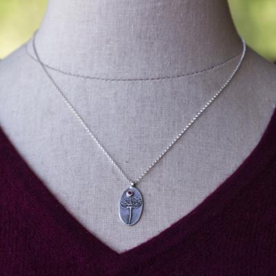 Poppy Necklace with Gemstone